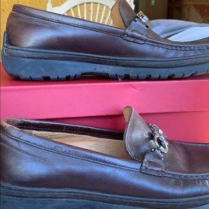 Genuine Ferragamo Leather Brown shoes